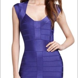 French Connection Purple Bandage Dress